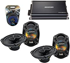 Compatible with Jeep Compass 2007-2014 OEM Speaker Replacement Harmony (2) R69 & CXA300.4 Amp (Renewed)