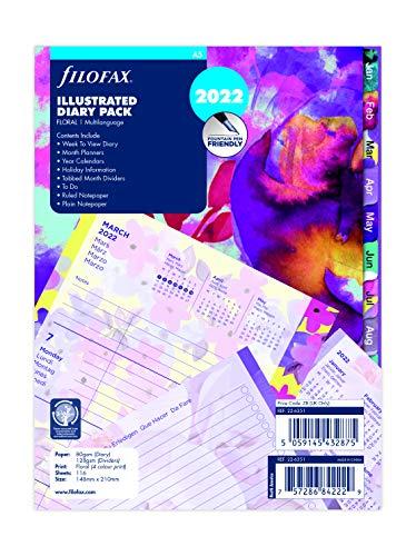 Filofax 2022 - Agenda 2022 con motivo floreale, 22-6351