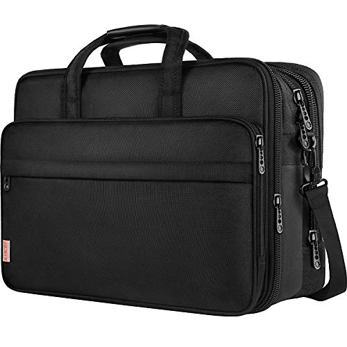 Taygeer 17 Inch Laptop Bag, Large Business Briefcase for Men Women, Travel Laptop Case Shoulder Bag, Waterproof Expandable Computer Messenger Bag, Durable Carrying Case Fits 17 in Laptop and Notebook