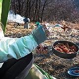 beeyuk Upgrade Premium 10 Piezas Kit de Olla de Picnic Almacenamiento Plegable Utensilios de Cocina para Acampar Accesorios para ollas de Campamento Juego de ollas de Camping Ligeras