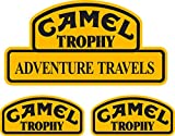 PEGATINA ADHESIVO CAMEL TROPHY LAND ROVER JEEP 4X4 ALTA CALIDAD 3 UNIDADES mod 1