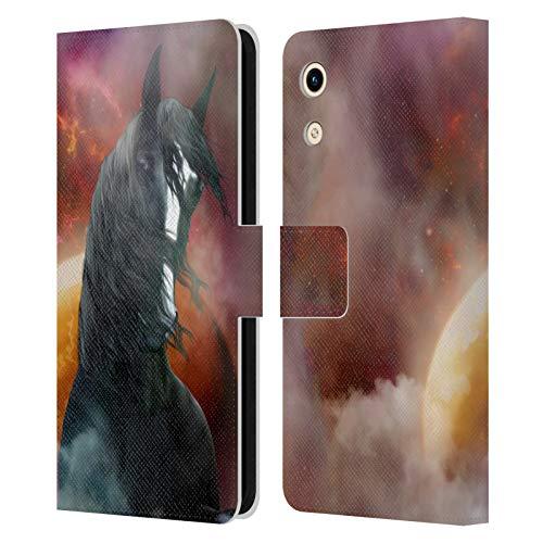 Head Hülle Designs Offizielle Simone Gatterwe Fantasie Grafschaft Pferde Leder Brieftaschen Huelle kompatibel mit Huawei Honor Play 8A