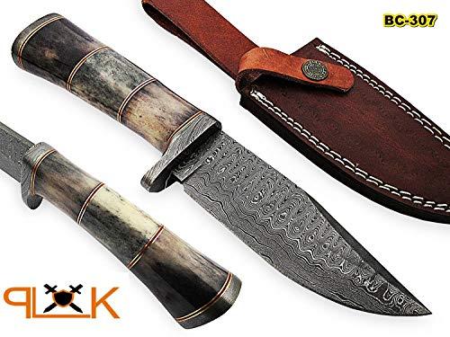 BC-307 Limited Edition - Custom Handmade Damascus Steel knife -Coloured Bone Handle