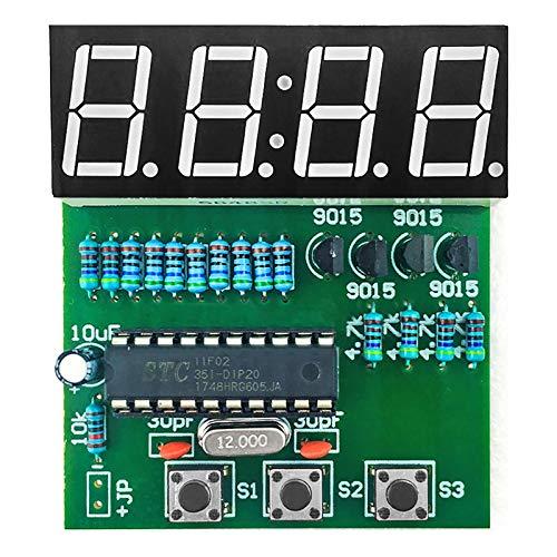 Gikfun C51 4 Bits Digital LED Elektronische Lötuhr Kits Elektronische Praxis Lernbrett DIY Kit für Arduino EK1939