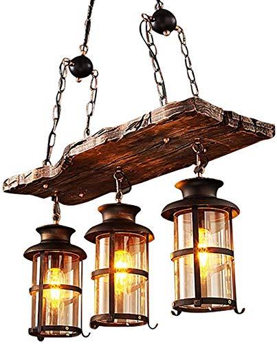 Hanglamp hoge kwaliteit pre-sales-diensten industriële houten hanger verschillende feelingnatuurlijke lichtdoorlatendheid ijzer, hout, glas plafondlamp