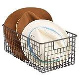 mDesign cesta metalica para los productos de limpieza de sus zapatos - Cesta...