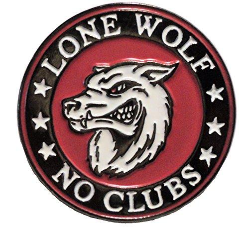 Enamel World Lone Wolf - Insignia de Metal esmaltada para Motocicleta