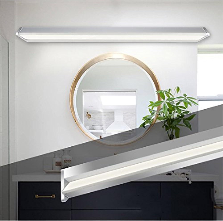 WYDM Spiegelleuchte, LED Spiegel Scheinwerfer Badezimmer Einfache moderne Badezimmer Wandleuchte (Farbe   Weies Licht-5W 35.1cm)