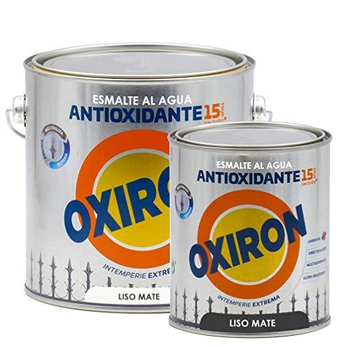 Esmalte antioxidante Titan Oxiron al agua Liso Mate - 750 mL, 4566 Blanco
