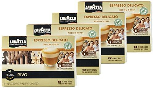Lavazza Espresso Delicato 72 Packs for Keurig Rivo System