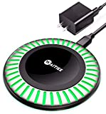 WAITIEE Wireless Charger Pad 15W MAX Fast Charging with QC3.0 Adapter, Dock 2 in 1 for Apple AirPods 2/Pro iPhone SE 2020 12 11/11 Pro / 11 Pro Max/Xs MAX/XR/XS/X/8/8 Plus Samsung Galaxy