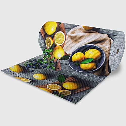 La Briantina Passatoia Ritagliabile 18 Metri con Fantasia Limoni, Tappeto Rotolo per Cucina Ingresso e Salotto, 52 cm x 18 Metri