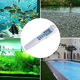 Uso tipo de bolígrafo PH Tester Palmar de alta precisión Control de la calidad del agua Acuario para fuentes de agua Medidor PH/EC/Temp