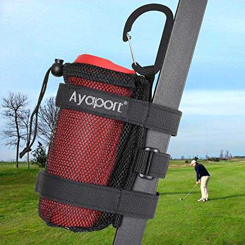 Ayaport Speaker Mount Holder Golf Cart Speaker Strap Fits Most Portable Sound Bar Round Cylindrical Speakers Radio, Golf Cart Accessories Applicable to Railing, Frame, Bike Handlebar
