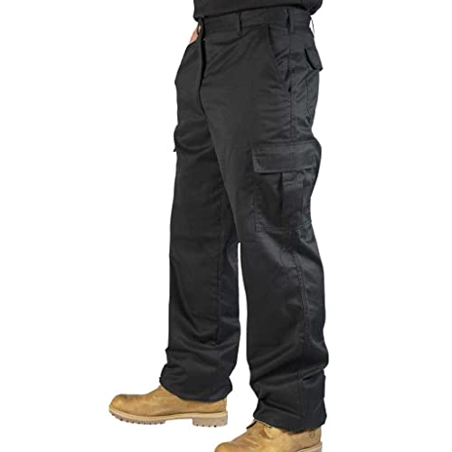 a60d494d4f Mens Combat Cargo Work Trousers Size 30 To 52 With Knee Pad Pockets - by BKS
