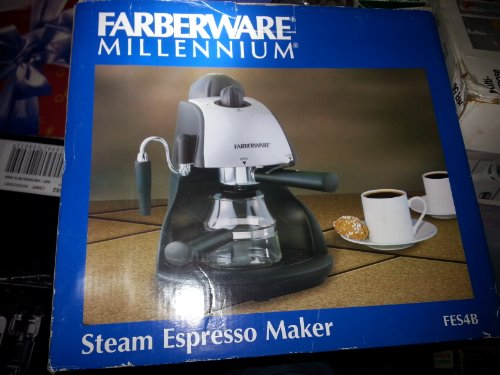Farberware FES4B 4-Bar Steam 4-Cup Espresso Machine