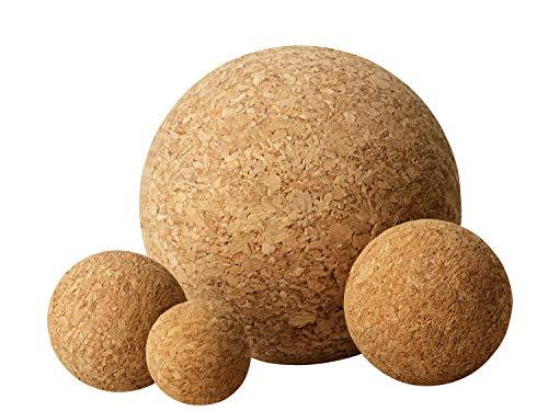 Bolas de corcho en varios diámetros – Bolas de corcho 3 cm, 4 cm, 5 cm, 10 cm – Diámetro a elegir (juego: 1 x 3 cm, 1 x 4 cm, 1 x 5 cm)