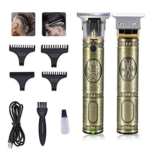 Dokdin Cortapelos profesional para hombre, máquina de barba, sin cables, cortadora de...