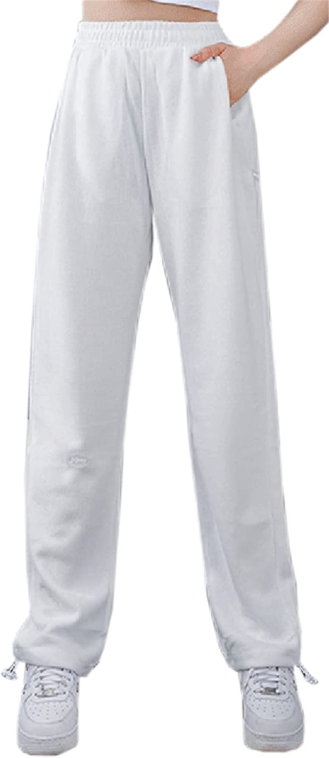 SANGTREE Women's Casual Wide Leg Jogger Pants with Pockets