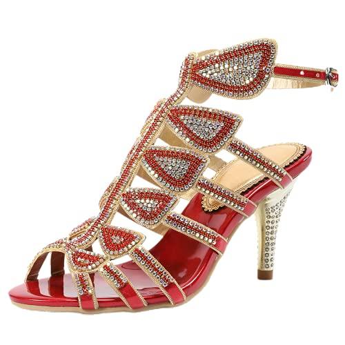 Zapatos de boda para mujer con diamantes de imitación de moda sandalias...