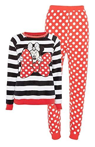 Licensed-Primark Damen Hausanzug Satz Minnie Maus Gestreift Pyjama Set GR. S-XL - Multi, (UK 14-16 / EUR 42-44 / USA 10-12 /IT 46-48)