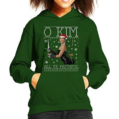 Cloud City 7 O Kim All Ye Trouwe Kardashian Kerst Knit Kid's Hooded Sweatshirt