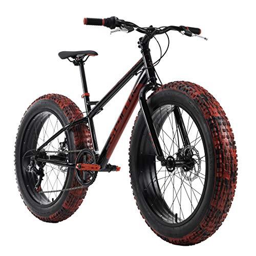 KS Cycling Mountainbike Fatbike 24'' SNW2458 schwarz-rot RH 38 cm