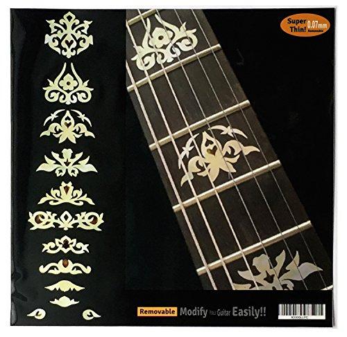 clasificación y comparación Etiquetas adhesivas blancas para trastes de guitarra y bajo para casa