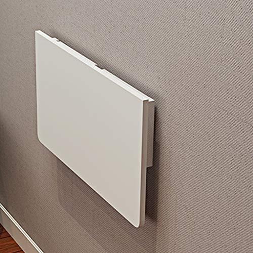 QZH Mesa plegable de pared para mesa de comedor, mesa de comedor, mesa de escritorio, mesa de pared, varios tamaños opcionales, color blanco (80 x 40 cm)