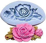 Inception Pro Infinite Stampo in Silicone per Uso Artigianale Rosa con Foglie Allungata - Adatto Anche per Sapone
