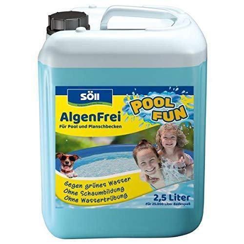 Söll 14709 AlgenFrei Pool Fun Algenmittel Reinigungsmittel flüssig 2,5 l - wirksamer Poolreiniger gegen Algen im Pool Planschbecken Schwimmbad Kinderbecken Swimmingpool Whirlpool