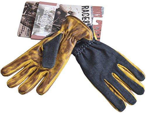 King Kerosin Biker Work Glove Denim To Faded Brown 3XL