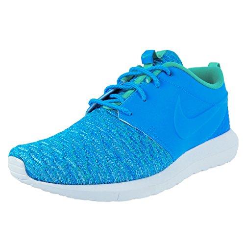 NIKE Roshe NM Flyknit Premium Schuhe Herren Sneaker Turnschuhe Blau 746825 400, Größenauswahl:42