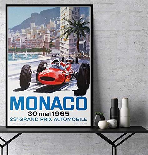 ysldtty Rompecabezas De 1000 Piezas De Regalo Caliente Gran Premio F1 Mónaco 1965 MAI Race Car Living Puzzles Juguetes para Adultos Niños Patrón Juguetes Educativos A-1999