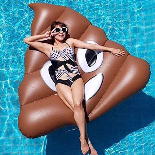 GGCL Aufblasbarer Luftmatratze -Form Einer Poop- Schwimmbett Wasser Schwimm Summer Beach Swimming Pool Schwimminsel Party Lounge Raft Decorations Toys for Erwachsenen