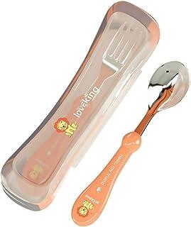 STOBOK Baby Spoons Forks Set Self Feeding Training Utensils Silverware Flatware for Infant Toddler Newborn Tableware