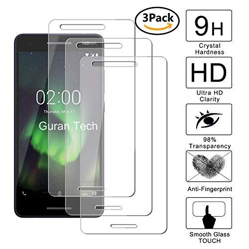 Guran [3 Pezzi] Pellicola Protettiva per Nokia 2.1 (2018) Smartphone Ultra Sottile Screen Protector in Vetro Temperato Film Ultra Resistente