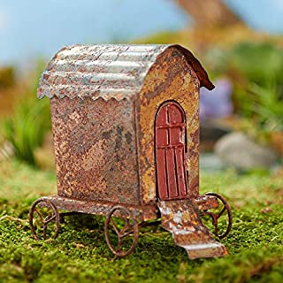 Factory Direct Craft 2 Pieces Miniature Weathered Circus Wagon for Holiday and Home Decorating and Displaying or Crafting Projects