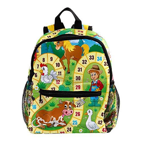 Mochila ligera para la escuela, mochila básica clásica informal para viajar con bolsillos laterales para botella, alpaca naranja cactus