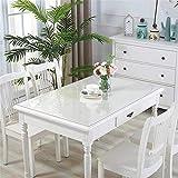 Eureya Wasserdicht Tischschoner, Holz, Schutzhülle mit Küche Esszimmer Holz Möbel Schutzhülle, Clear 2mm Thick, 65x130CM - 2