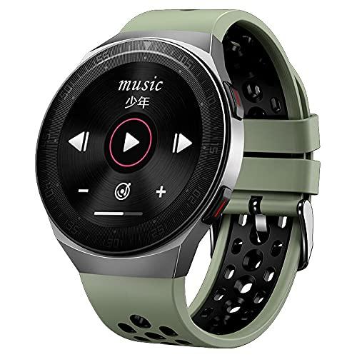 Relógio Inteligente Masculino MT-3, 8g música de memória, Bluetooth, Chamada Tela, Toque Completo Função Gravação Smartwatch à Prova Dwaterproof d'água, Esportes Pulseira (Verde)