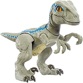 Jurassic World Primal Pal Blue with Spring-activated Action Sound Effects Plus Neck Shoulder Tail and Feet Articulation for Added Play Movement [Amazon Exclusive]