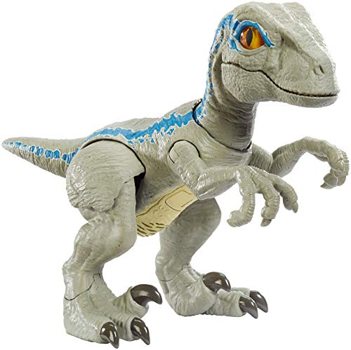 Mattel GFD40 Jurassic World Dinosaurier Spielzeug Dinofreundin Blue mit realistischen Bewegungen, Spielzeug ab 4 Jahren