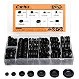 Canitu 170Pcs Rubber Grommet Firewall Hole Plug Set Electrical Wire Gasket Set for Auto Car Wire Cable, 7 Different Metric Sizes Assortment Kit