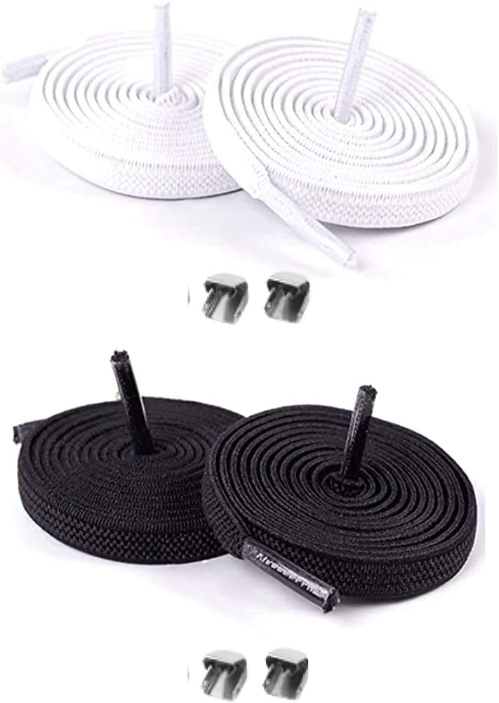 eLaces No- Tie Stretchy Shoelaces with Bla Easy-to-Clip All stores are sold One Max 69% OFF Time