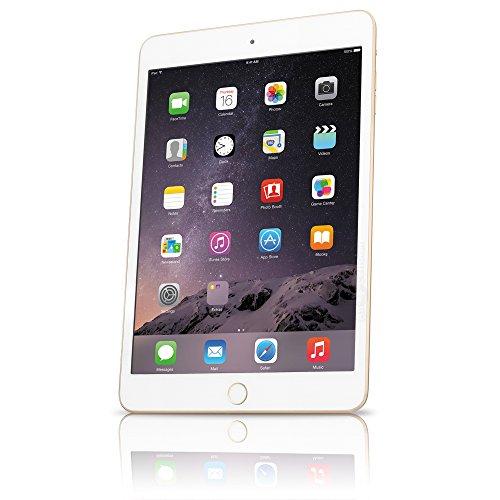 Apple iPad Mini 3 MGYK2LL/A VERSION (128GB, Wi-Fi, Gold) (Renewed)