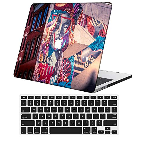 NKDCase Case for MacBook Pro 13 inch Retina Model A1425/A1502 Cut Out Design,Plastic Ultra Slim Light Hard Case Keyboard Cover Compatible MacBook Pro 13 inch No CD ROM/Touch,Painting 0361