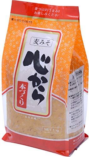 [キンコー醤油] 心から本づくり (甘口 麦みそ) 1�s×2個 国内産大豆を100% 使用