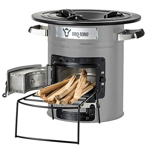 BBQ-Toro Rocket Stove RAKETE #2 - Portable Biomass, Wood Burning and Charcoal Survial Camp...