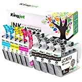 Kingjet LC3013 Compatible Ink Cartridge Replacement for Brother LC3011 LC3013 (10 Pack) Use with MFC-J487DW MFC-J491DW MFC-J497DW MFC-J690DW MFC-J895DW Inkjet Printers - 2Sets and 2Black